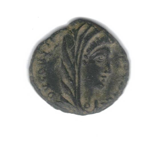 AE4 de consagración de Constantino I. Constantino dirigiendo cuádriga a dcha. Antioch. 8523ha10
