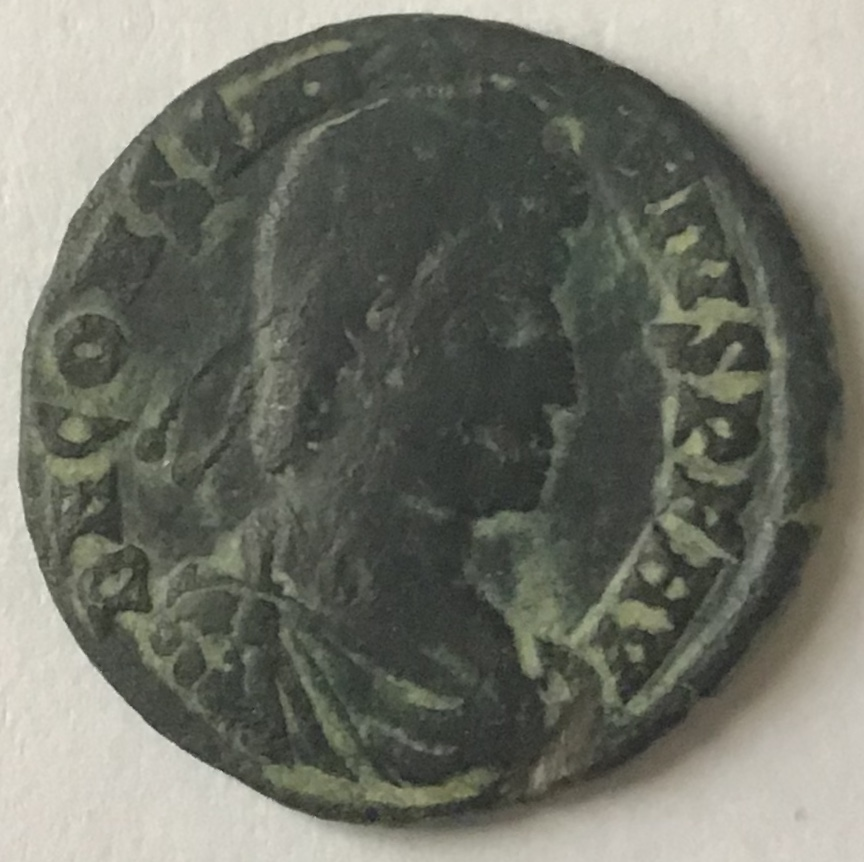 AE3 de Constancio II. FEL TEMP - REPARATIO. Soldado romano alanceando a jinete caído. Siscia. Ca99a510