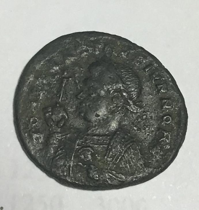 AE3 de Constantino II. BEATA TRAN-QVILLITAS - VOT / IS / XX. Globo sobre altar. Trier. D862b710