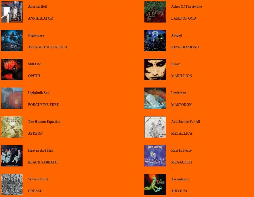 M A U Lista107