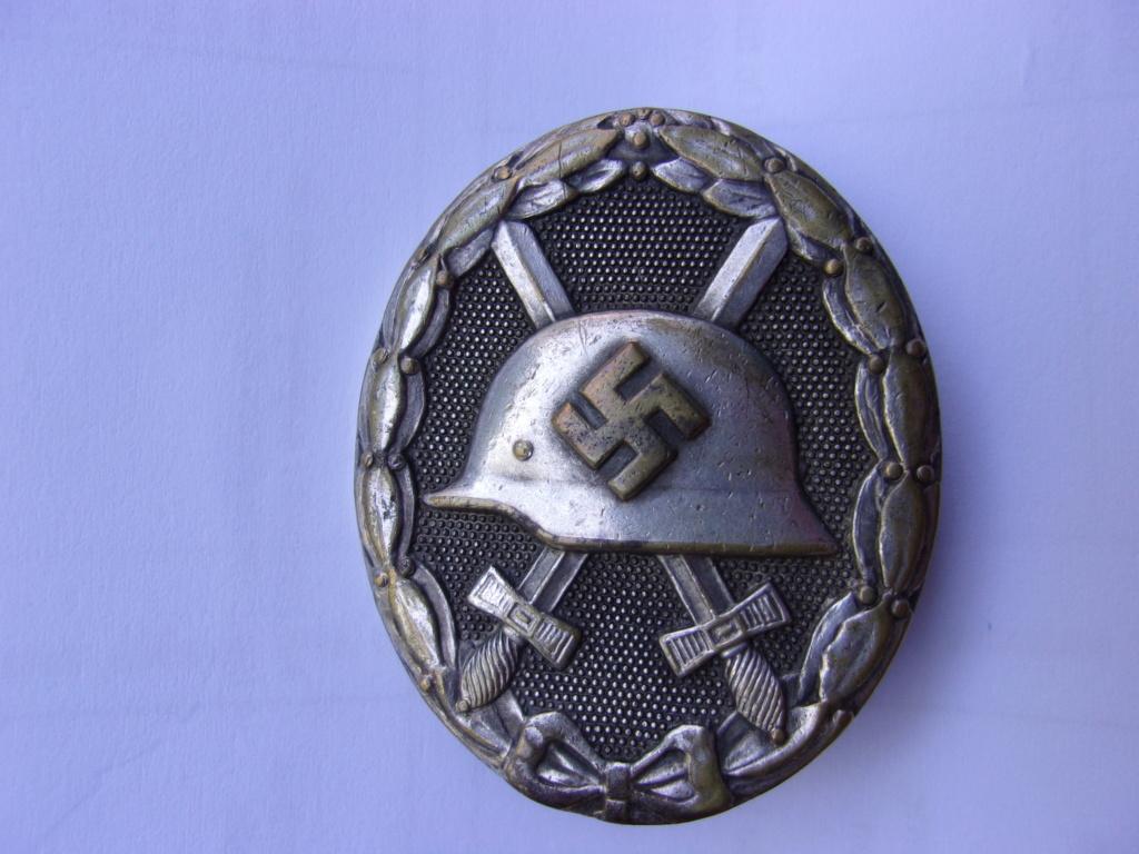 authentification médaille des blessés allemande ww2 argent 103_3711