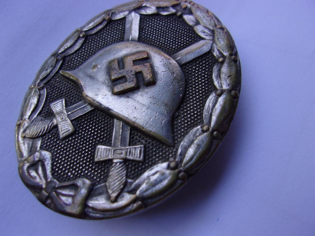 authentification médaille des blessés allemande ww2 argent 103_3712
