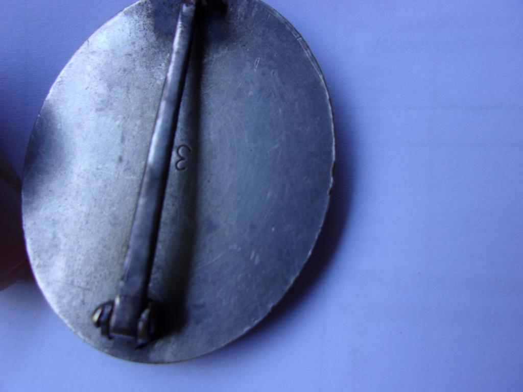 authentification médaille des blessés allemande ww2 argent 103_3716