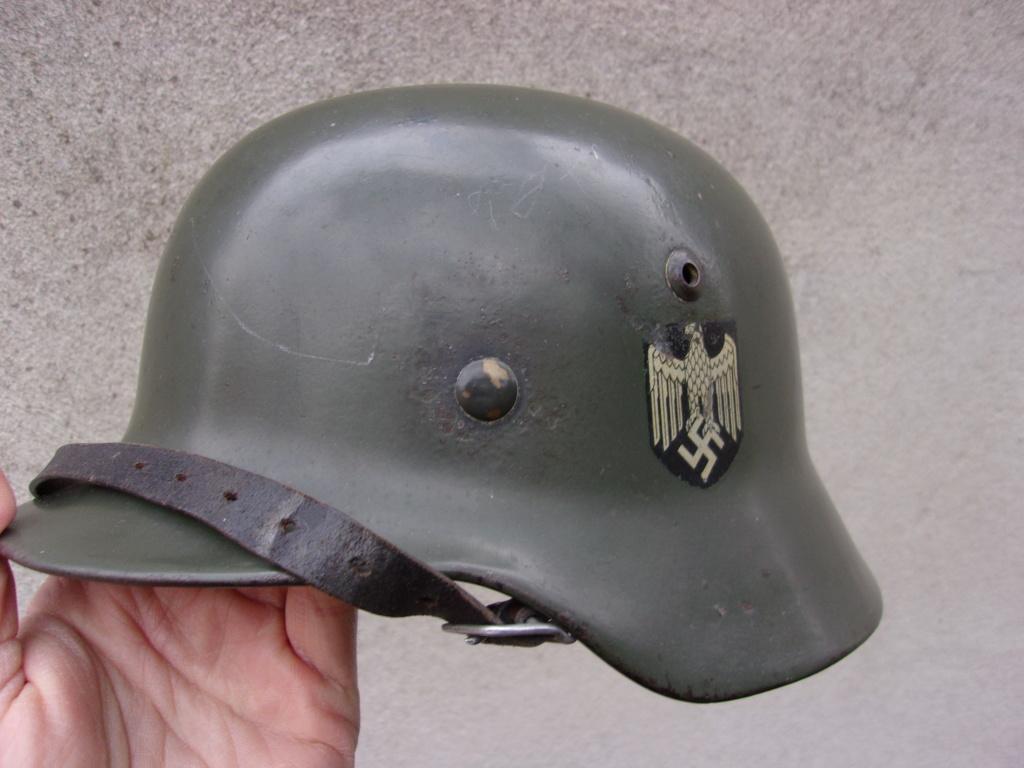 "Casque Wehrmacht M35 double insigne ""vert pomme"" 103_4512"