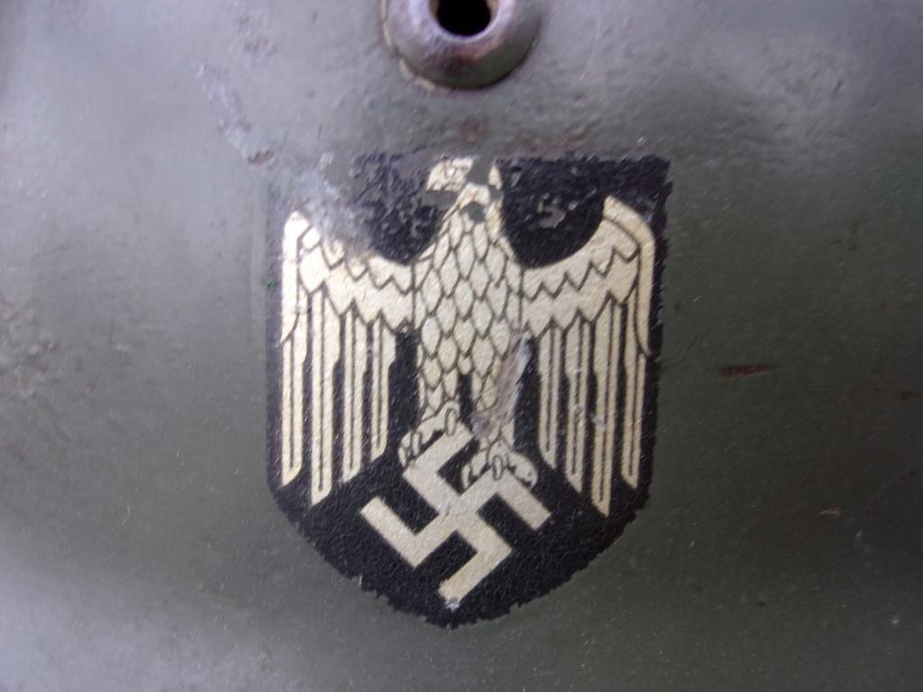 "Casque Wehrmacht M35 double insigne ""vert pomme"" 103_4514"