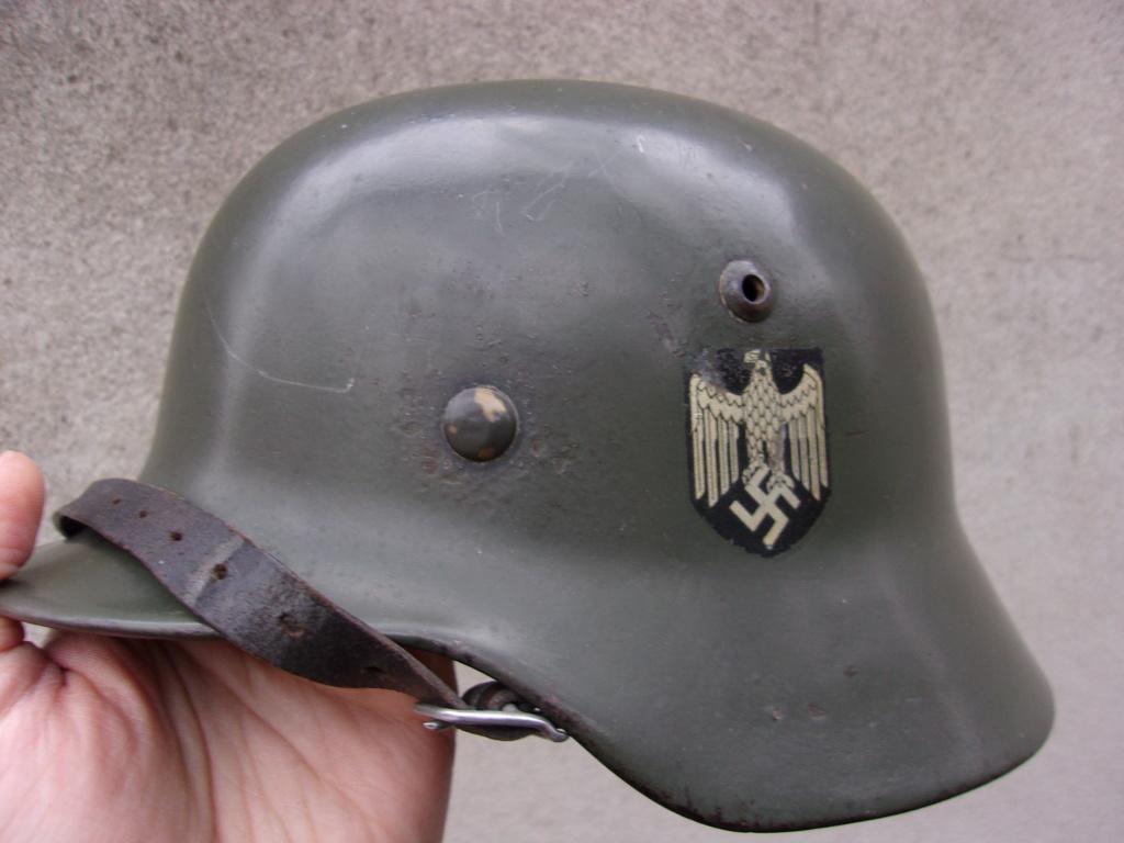 "Casque Wehrmacht M35 double insigne ""vert pomme"" 103_4527"