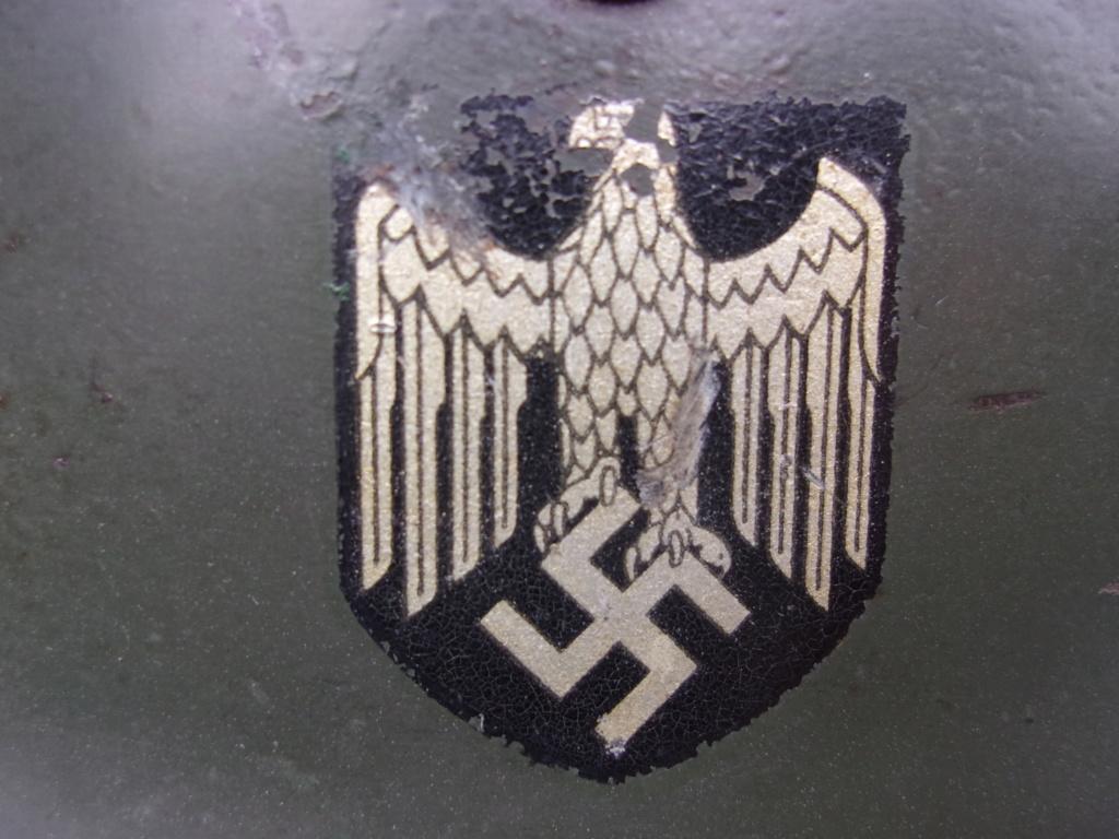 "Casque Wehrmacht M35 double insigne ""vert pomme"" 103_4531"