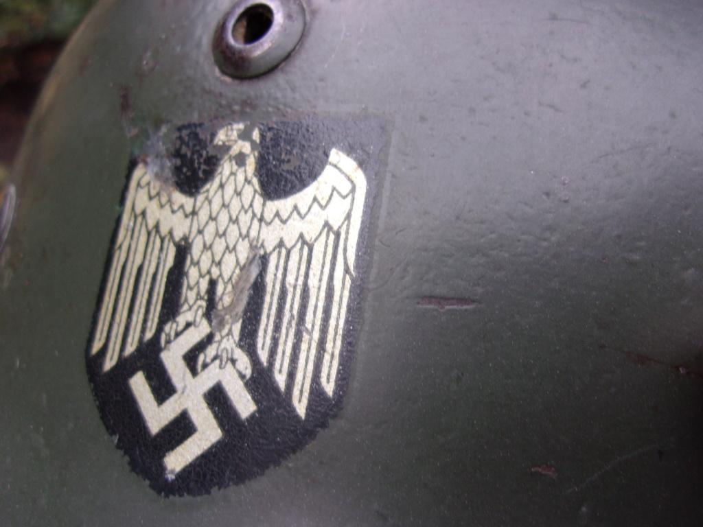 "Casque Wehrmacht M35 double insigne ""vert pomme"" 103_4532"