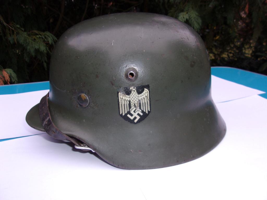 "Casque Wehrmacht M35 double insigne ""vert pomme"" 103_4536"