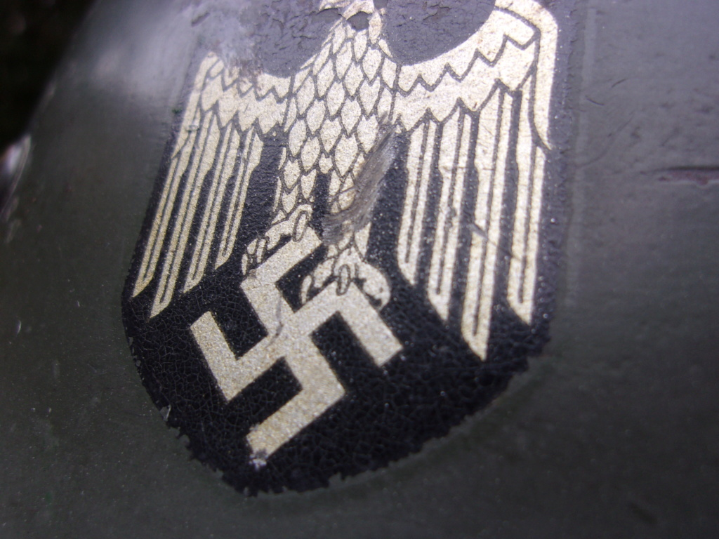 "Casque Wehrmacht M35 double insigne ""vert pomme"" 103_4537"