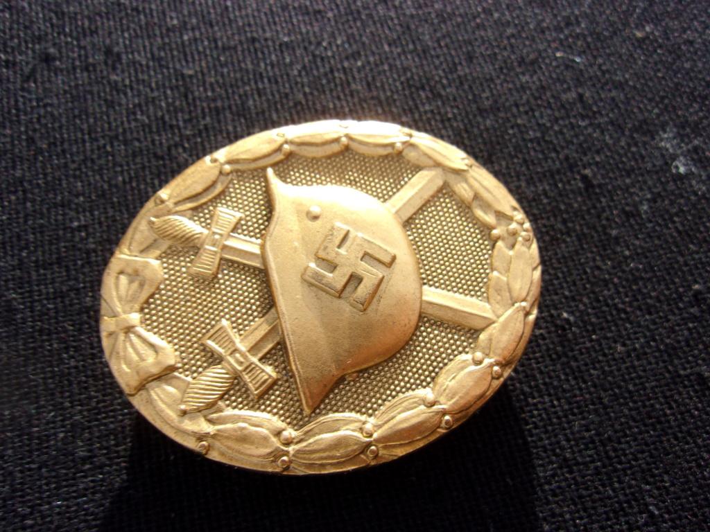 authentification badge allemand des blessés or ww2 103_7410