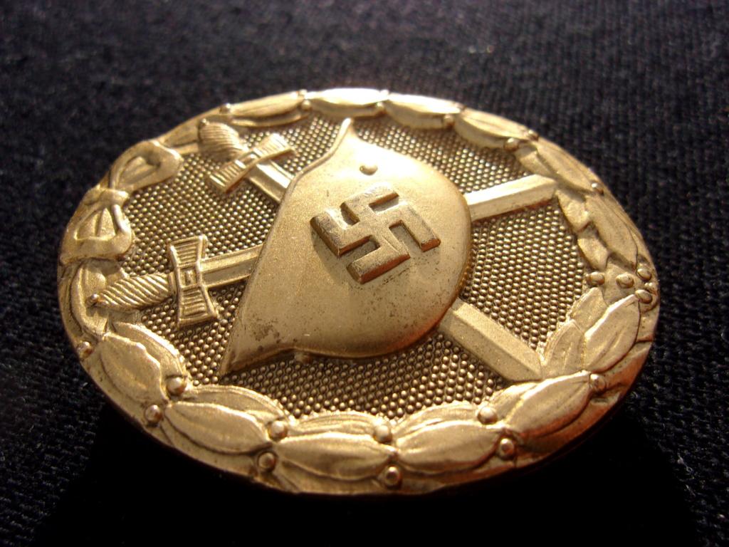 authentification badge allemand des blessés or ww2 103_7412