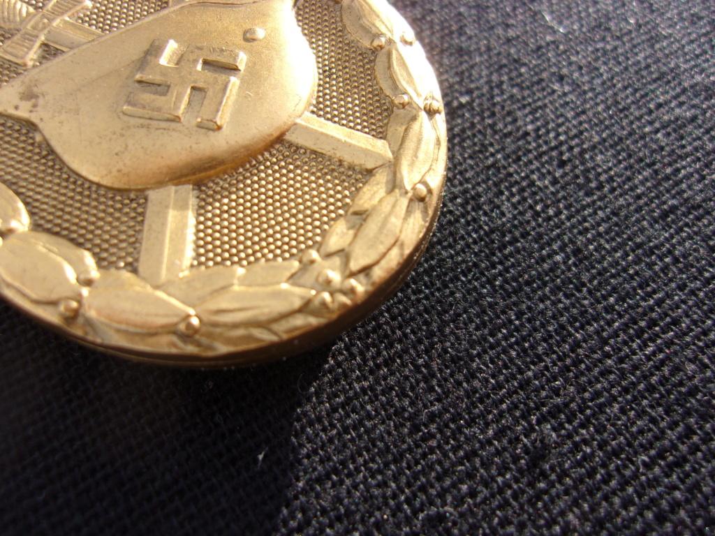 authentification badge allemand des blessés or ww2 103_7413