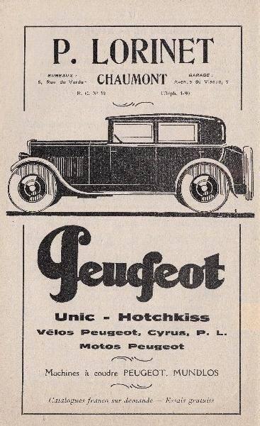 Cartes Postales Anciennes de garages PEUGEOT (Garages, Agences et Concessions) - Page 2 01_cha10