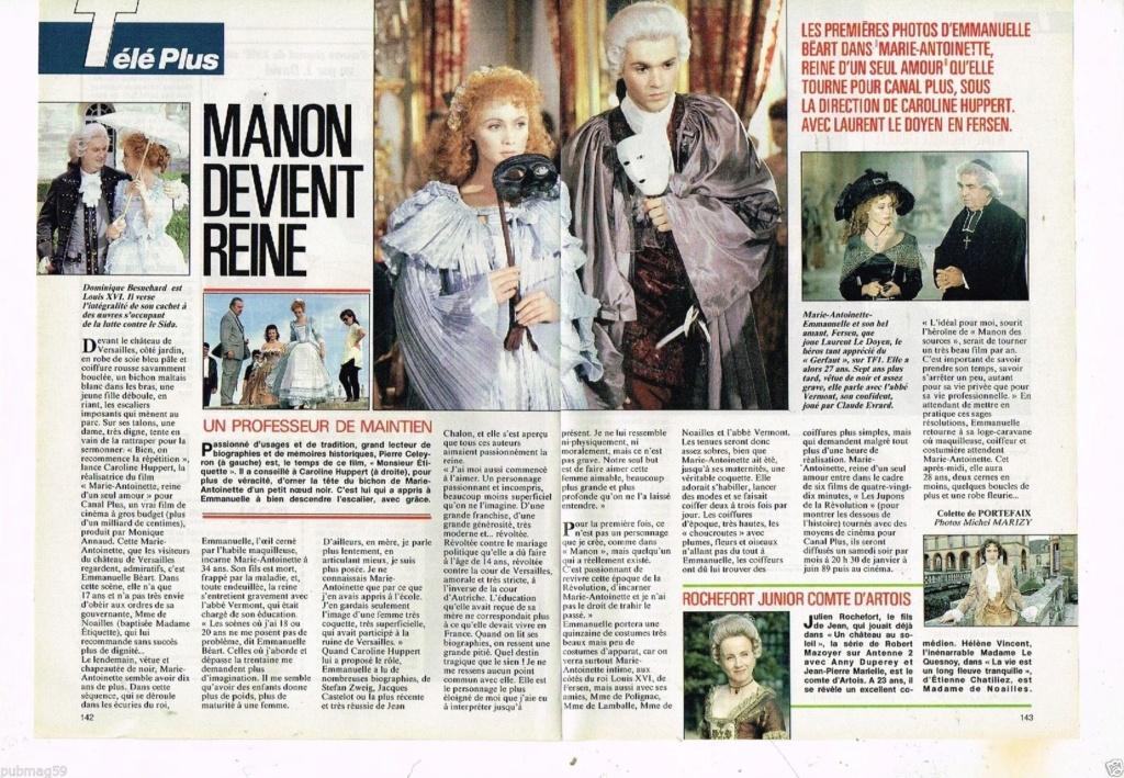 Marie Antoinette, reine d'un seul amour de Caroline Huppert, avec Emmanuelle Béart - Page 2 S-l16010