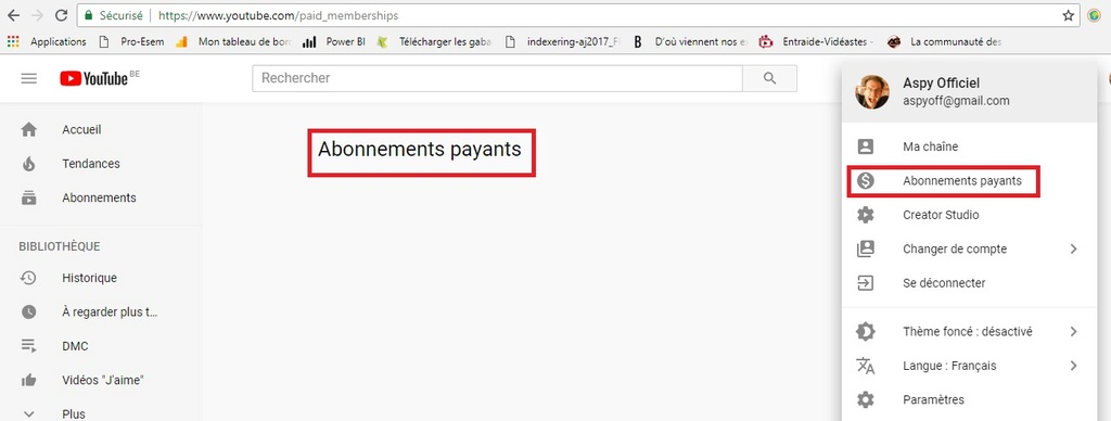 Abonnements payants sur Youtube??? Abonne10