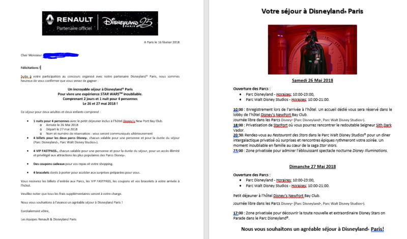 Un sejour imperial à Disneyland Paris - 26 et 27 Mai 2018 Progra10