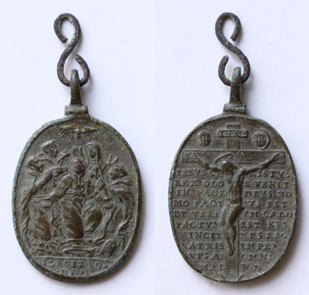 Cinco santos canonizados en 1671 / Crucificado y oración  (R.M. SXVII-O508) 04308410