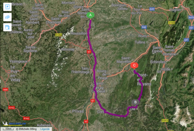 Sorties Auvergne-Rhône-Alpes - Page 2 Trajet10