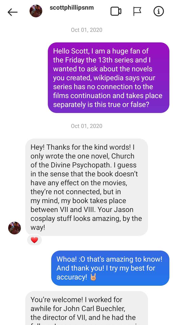 I've Messaged Scott Phillips the Writer for Friday the 13th: Church of the Divine Psychopath Screen12