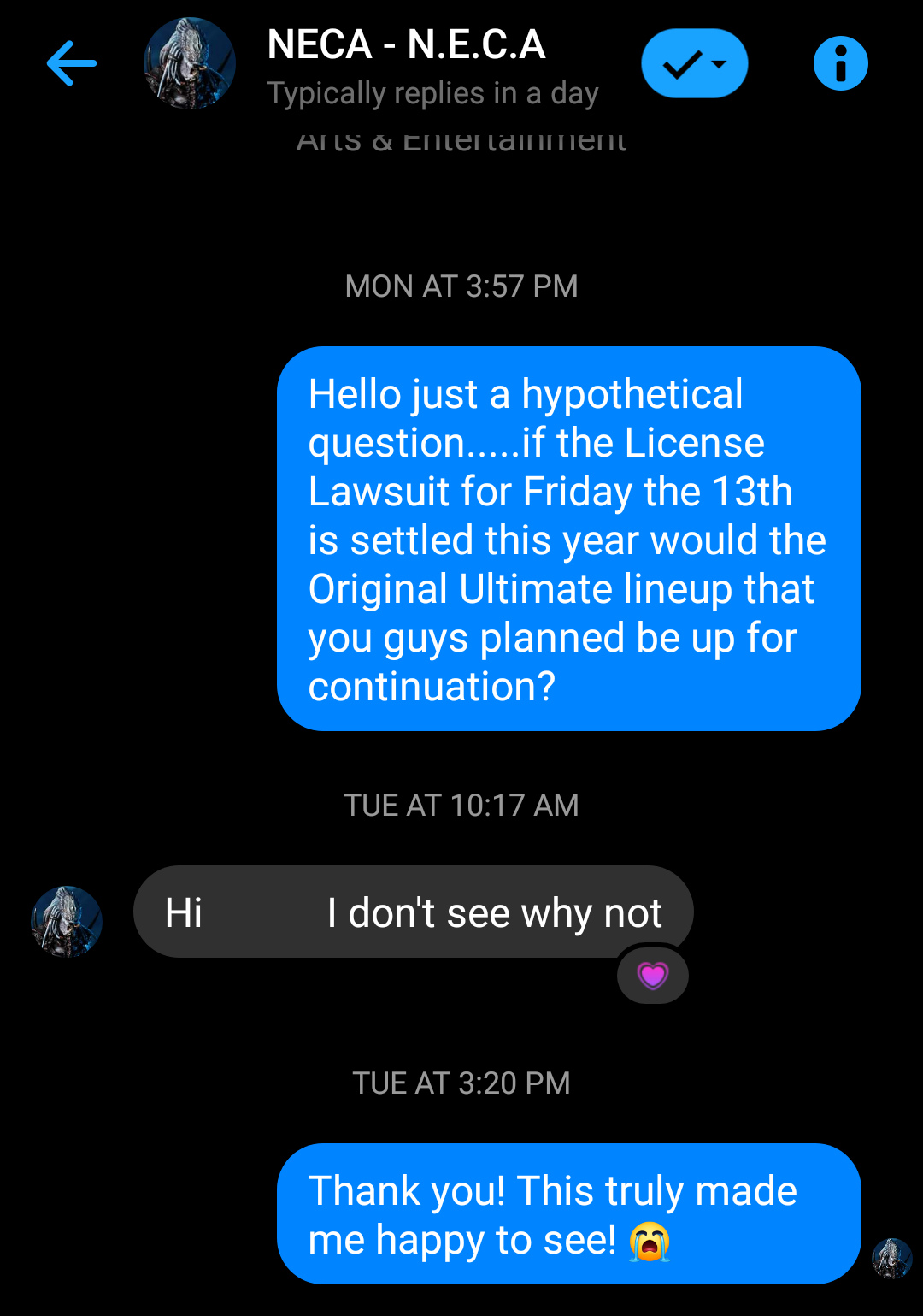 NECA Toys response to a continuation of the Original Ultimate Jason Figures Line-Up If Lawsuit Ends Screen14