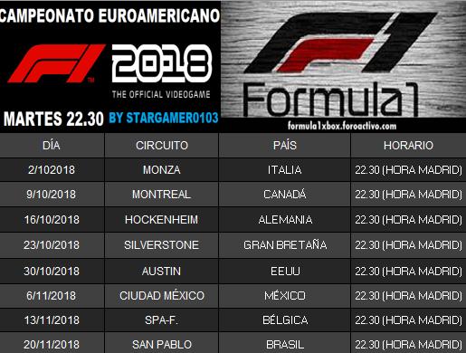 F1 2018 *** CALENDARIO DEL CAMPEONATO EUROAMERICANO. Calend10