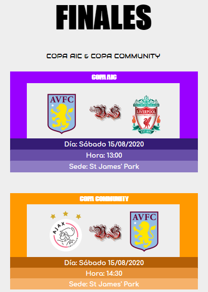 [AICv25] Horarios Finales de Copa AIC & Copa Community // AIC SuperCup // Pre-UEL IDA & VUELTA 15970333