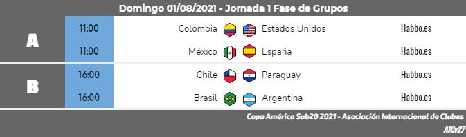 [AICv27] Horarios J1 & J2 de Copa América Colombia 2021 & J1 de Copa América Sub20 Argentina 2021 Copa_a35