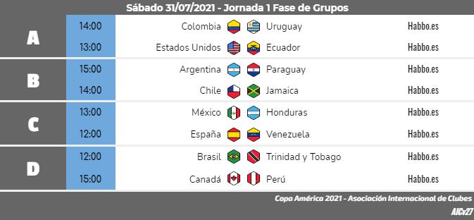 [AICv27] Horarios J1 & J2 de Copa América Colombia 2021 & J1 de Copa América Sub20 Argentina 2021 Copa_a37