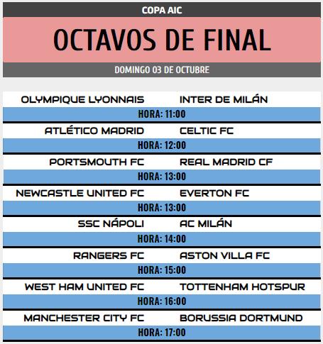 [AICv28] Horarios J6 de Ligas 1D, 2D, 3D & 4D // Octavos de Final de Copa AIC // J1 & J2 de Liga HF POD Copa_a47