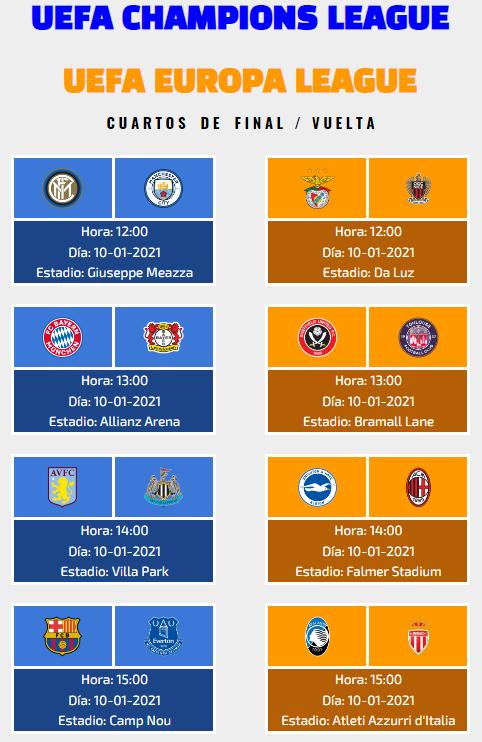 [AICv26] Horarios Cuartos de Final de UCL & UEL IDA & VUELTA + Información UEFA Youth League Cuarto10
