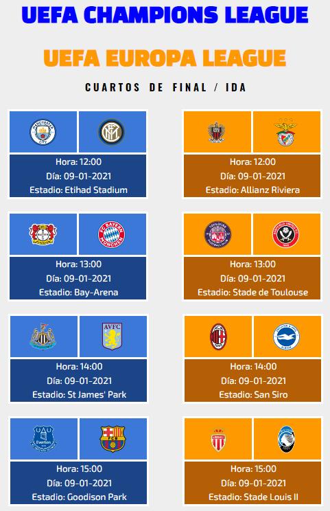[AICv26] Horarios Cuartos de Final de UCL & UEL IDA & VUELTA + Información UEFA Youth League Cuarto11