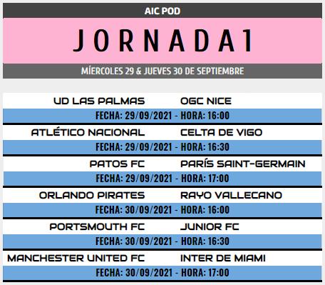 [AICv28] Horarios J6 de Ligas 1D, 2D, 3D & 4D // Octavos de Final de Copa AIC // J1 & J2 de Liga HF POD Pod_j110