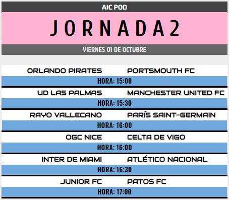 [AICv28] Horarios J6 de Ligas 1D, 2D, 3D & 4D // Octavos de Final de Copa AIC // J1 & J2 de Liga HF POD Pod_j210