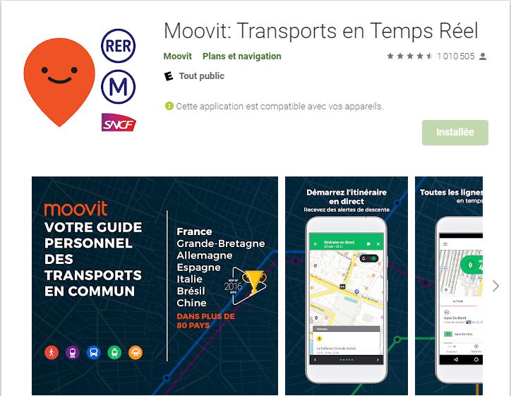 appli telephone pour les transports en commun  Moovit10