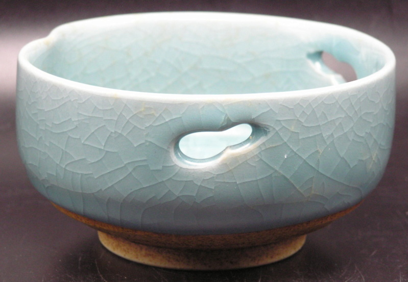 Bowl with AM or MM or ... signature, unusual glaze Image214