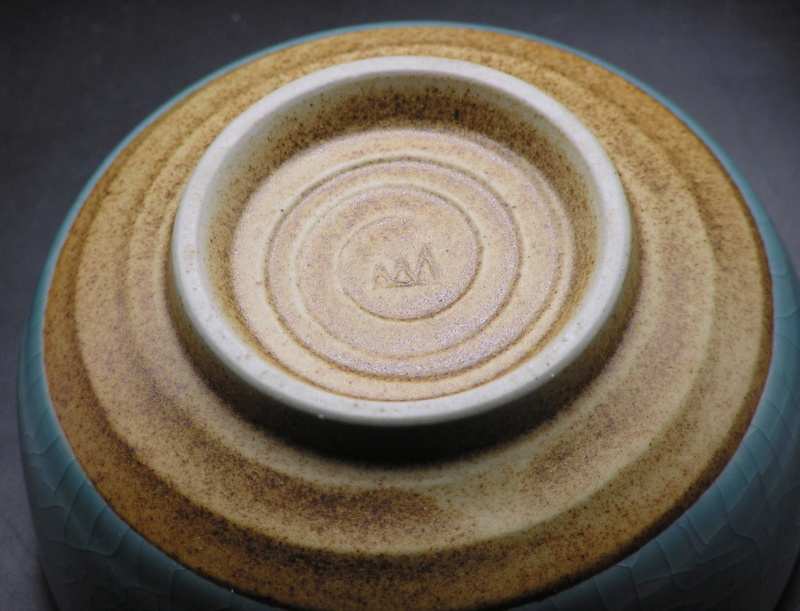 Bowl with AM or MM or ... signature, unusual glaze Image215