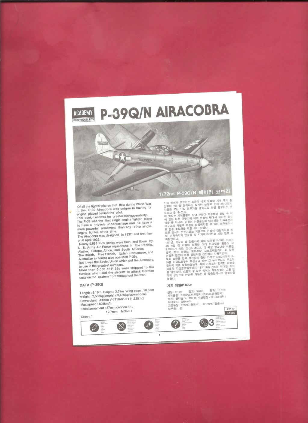 [ACADEMY] BELL P 39 Q/N 1/72ème Réf 2177 Academ15