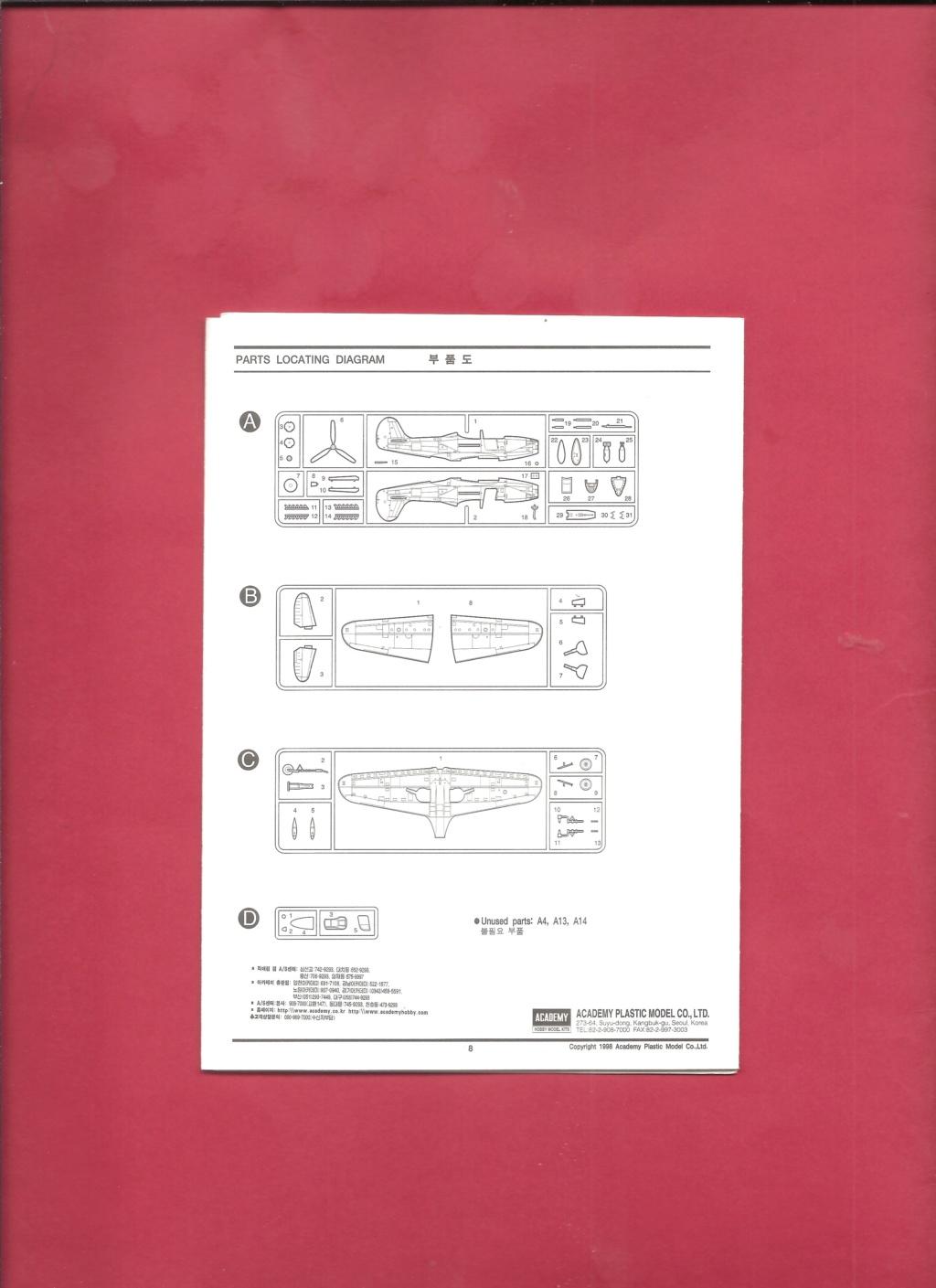 [ACADEMY] BELL P 39 Q/N 1/72ème Réf 2177 Academ18