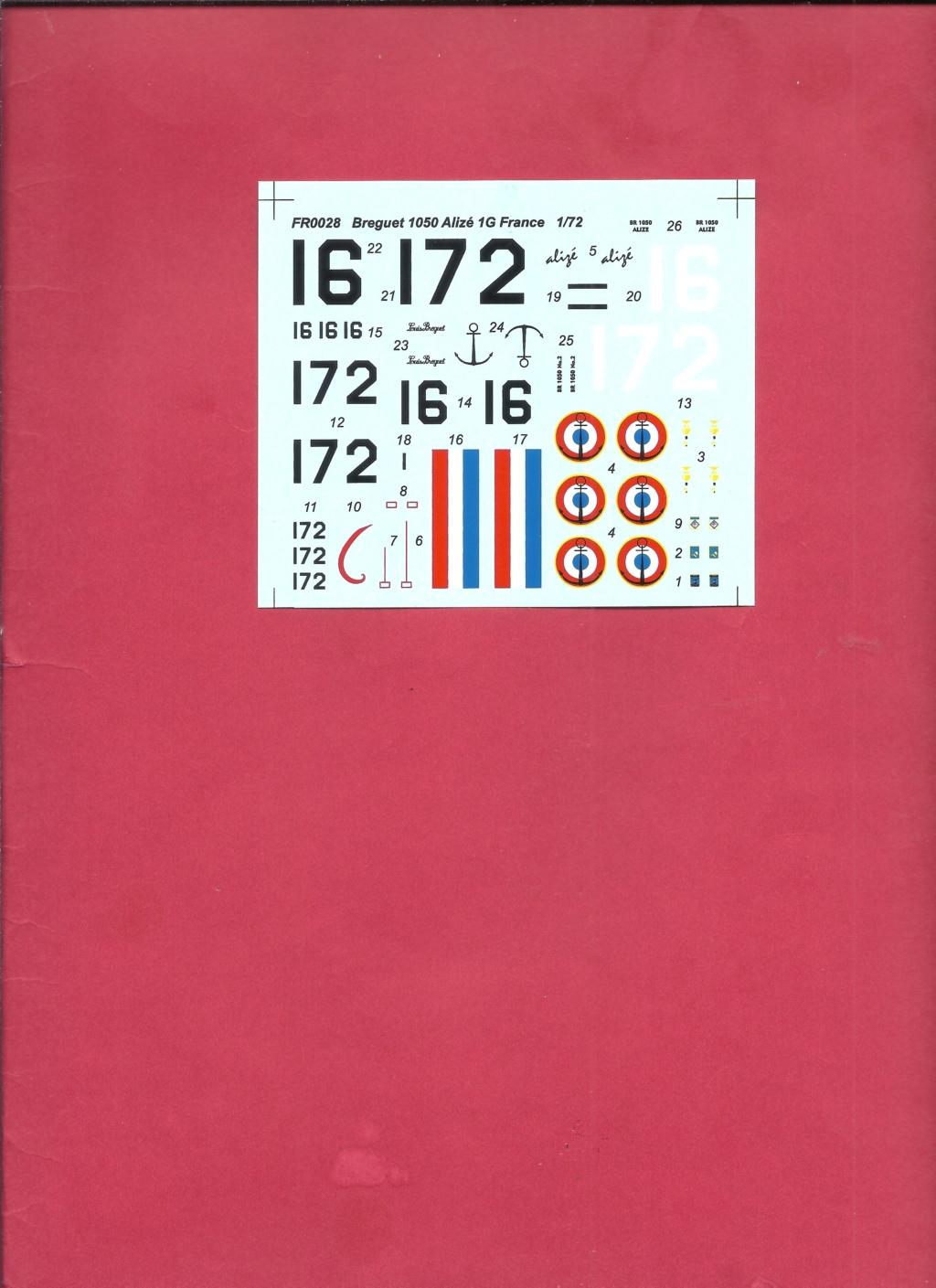 alizé - [AZUR FRROM] BREGUET  Br 1050 ALIZE 1/72ème Réf FR0028 Azur_f50