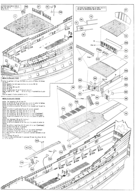 Vaisseau SOLEIL ROYAL 1/100ème Réf 899 Notice Hell1348
