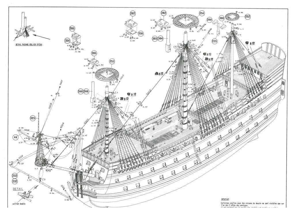 Vaisseau SOLEIL ROYAL 1/100ème Réf 899 Notice Hell1355