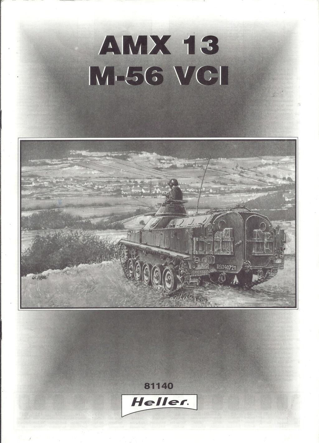 Véhicule de Combat d Infanterie AMX 13 M 56 VCI 1/35ème Réf 81140 Notice Hell2111