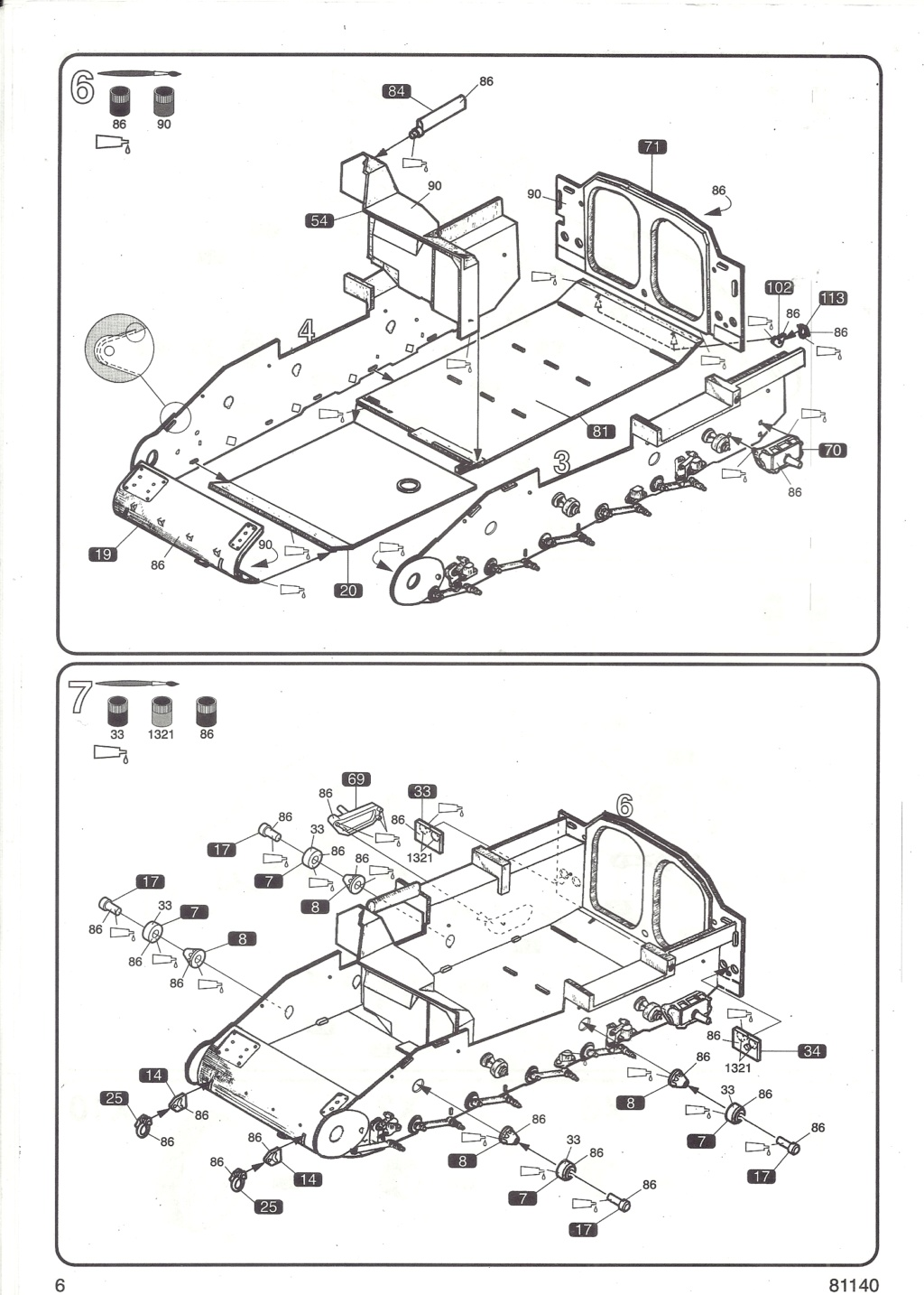 Véhicule de Combat d Infanterie AMX 13 M 56 VCI 1/35ème Réf 81140 Notice Hell2116