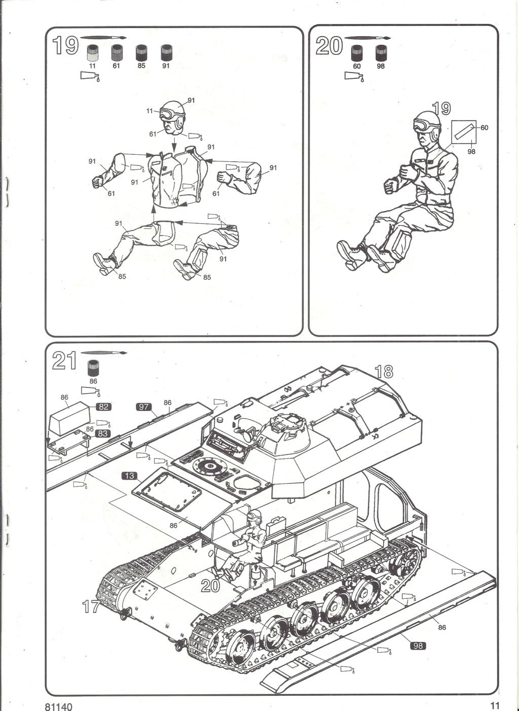 Véhicule de Combat d Infanterie AMX 13 M 56 VCI 1/35ème Réf 81140 Notice Hell2121