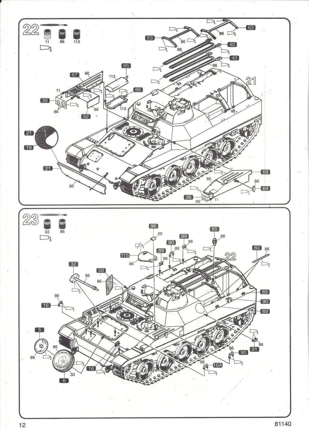 Véhicule de Combat d Infanterie AMX 13 M 56 VCI 1/35ème Réf 81140 Notice Hell2122