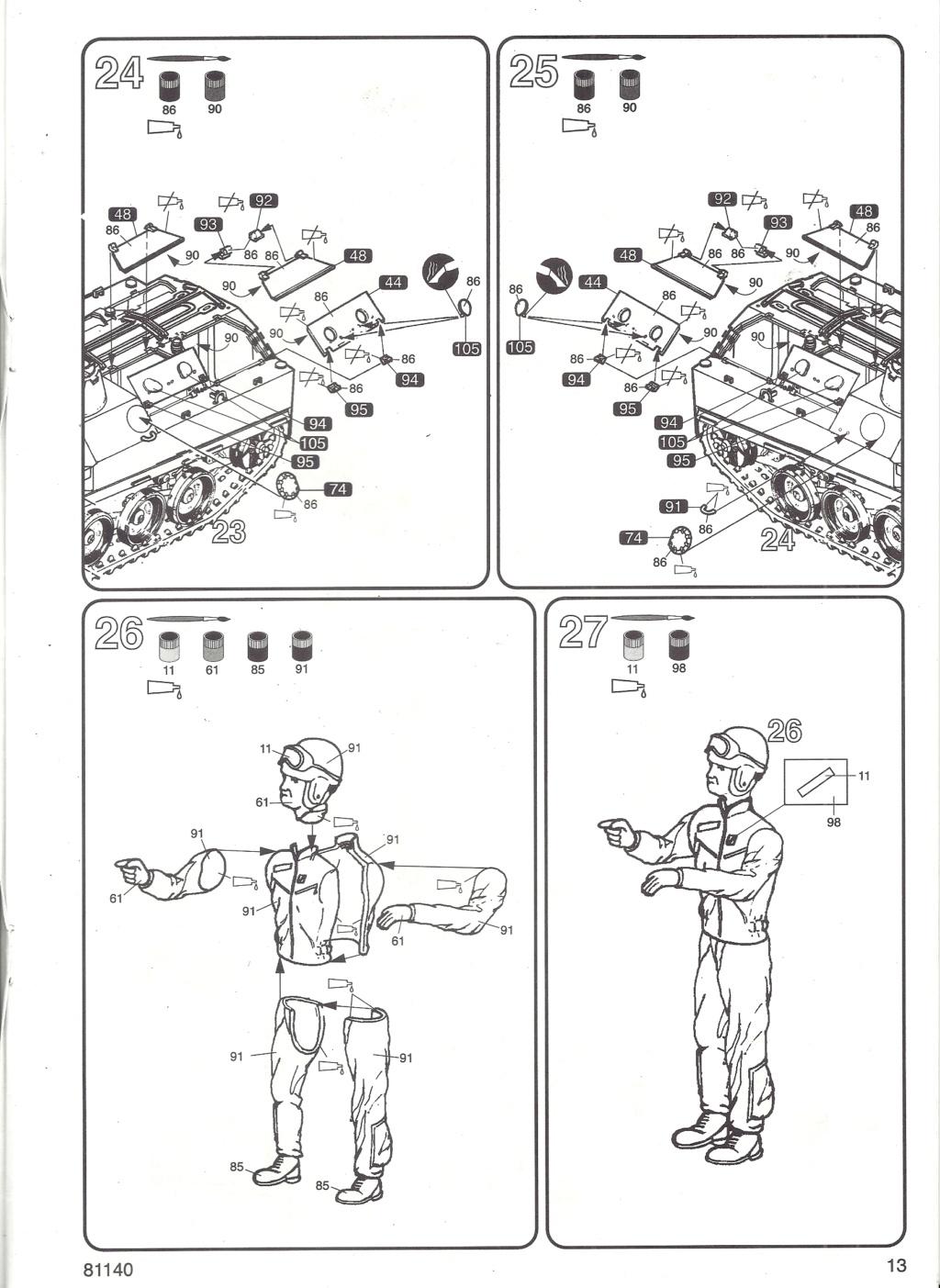 Véhicule de Combat d Infanterie AMX 13 M 56 VCI 1/35ème Réf 81140 Notice Hell2123
