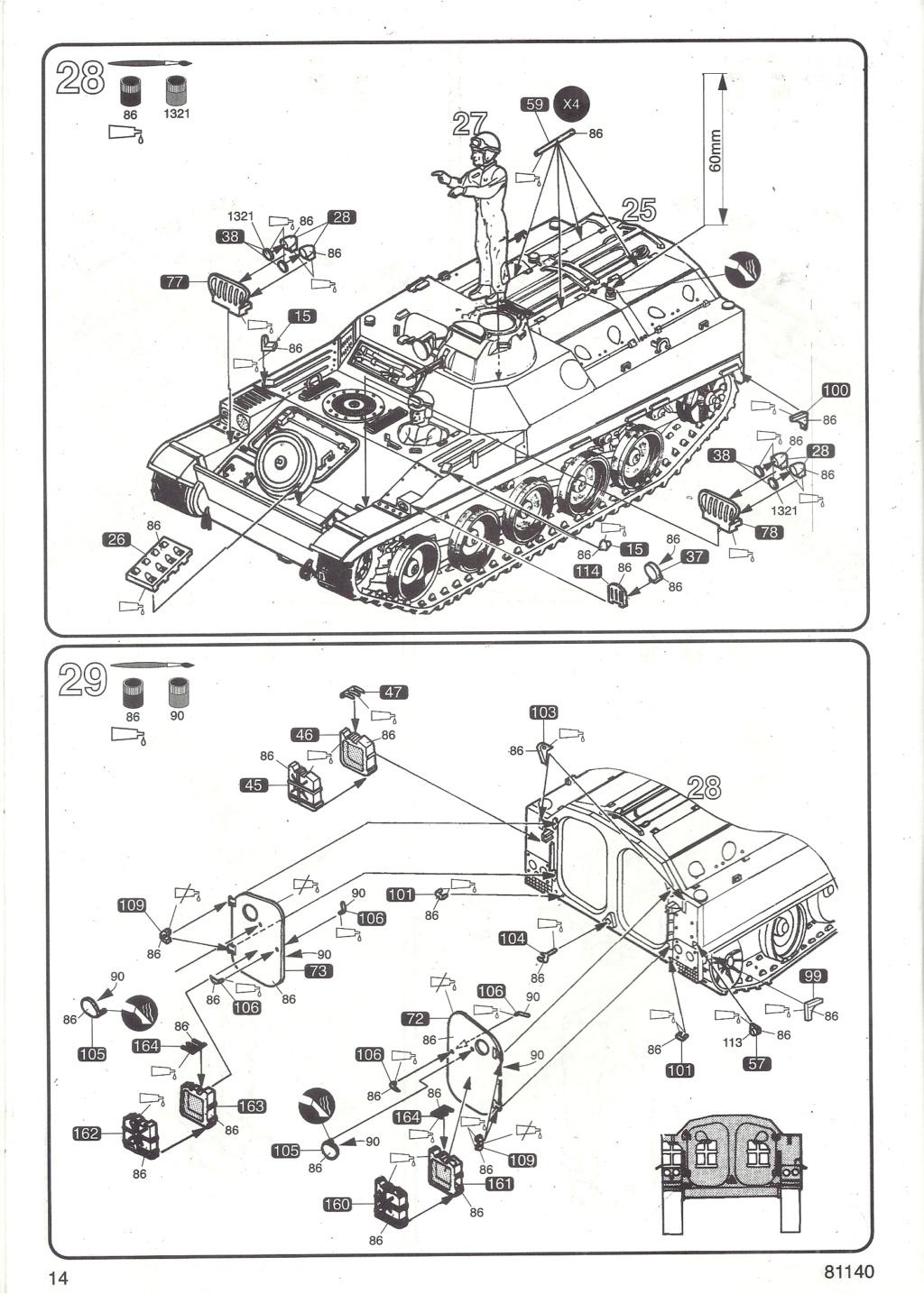 Véhicule de Combat d Infanterie AMX 13 M 56 VCI 1/35ème Réf 81140 Notice Hell2124