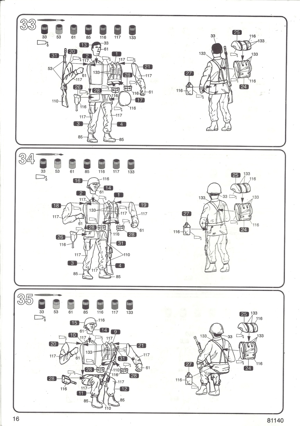 Véhicule de Combat d Infanterie AMX 13 M 56 VCI 1/35ème Réf 81140 Notice Hell2126