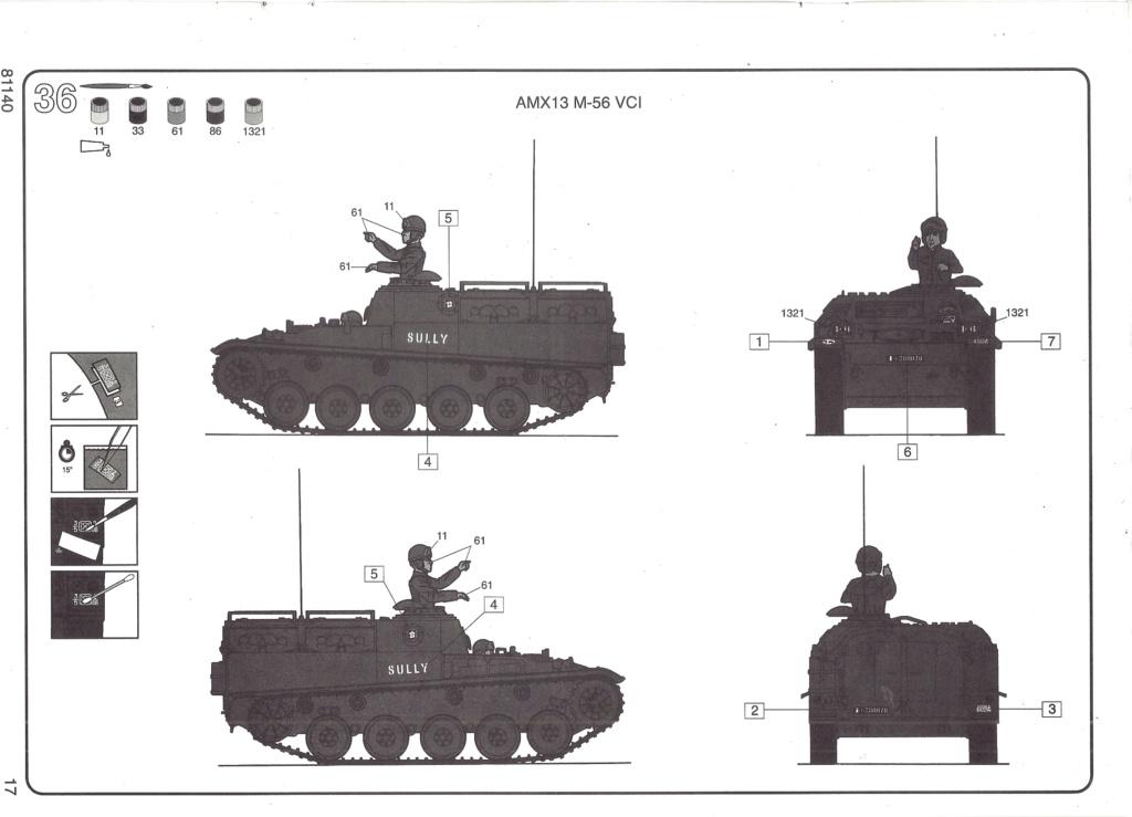 Véhicule de Combat d Infanterie AMX 13 M 56 VCI 1/35ème Réf 81140 Notice Hell2127